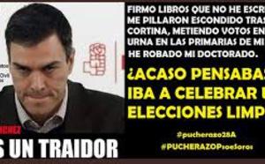 Pedro Sánchez, sospechoso de fraude electoral