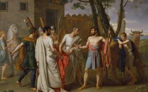 Cincinato abandona el arado para dictar leyes a Roma, cuadro de 1806 de Juan Antonio Ribera.