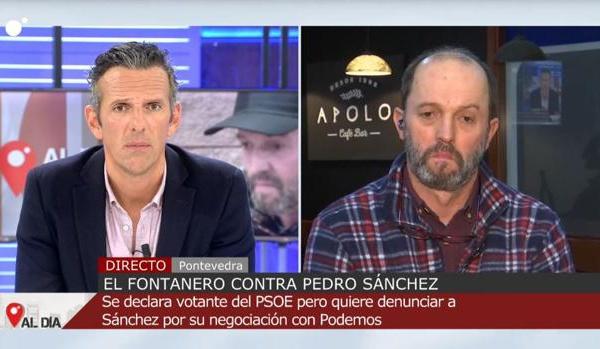 El fontanero gallego que ha denunciado a Pedro Sánchez es héroe y modelo para los demócratas y la España decente
